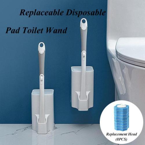 Replaceable Disposable Pad Toilet Clean Brush
