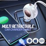 Multi Retractable Car Charger Cable
