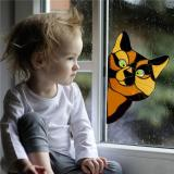 Funny Cat Sticker Home Decor
