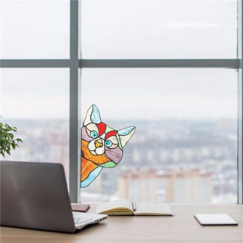 Funny Cat Sticker Home Decor
