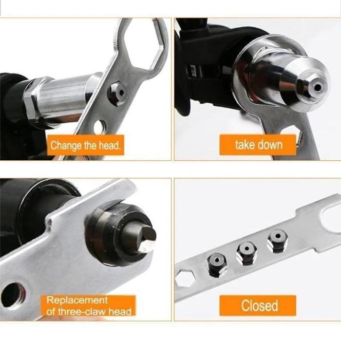 Professional Rivet Gun Adapter Kit