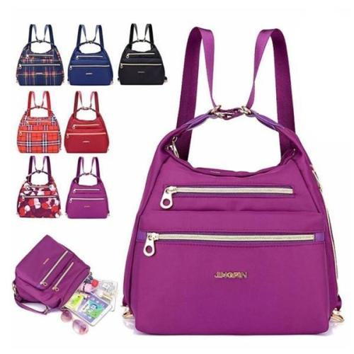 Multifunctional Zipper Backpack, Handbag and Shoulder Bag