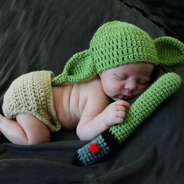 YODA BABY CROCHET TODDLER OUTFIT