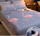 Warmth Heating Micro Fleece Extra Soft Cozy Velvet Plush Fitted Bed Sheet