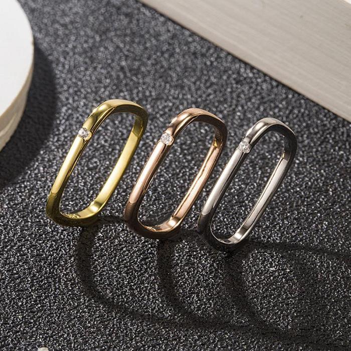 Fashion Square Design Ring Necklace Accessories