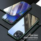 2021 Upgraded Two Side Tempered Glass Magnetic Adsorption Phone Case for iPhone 12