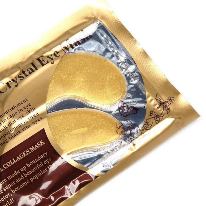 24K Gold Eye Mask with Collagen and Hyaluronic Acid (20 Pairs)