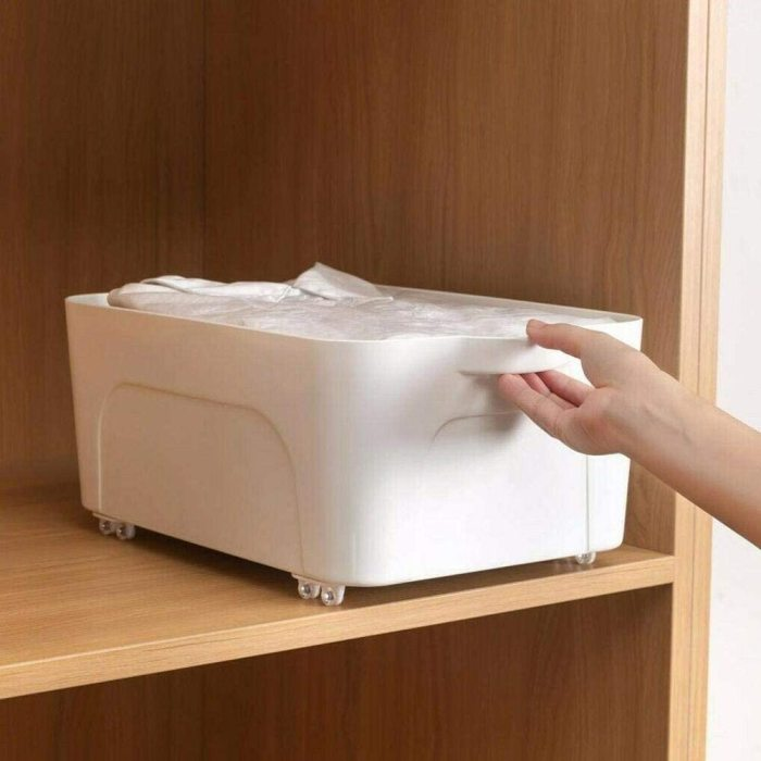 Creative Adhesive Movable DIY Storage Box One-Way Pulley