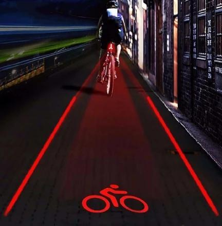 Laser Bike Light Rear Bike Tail Light