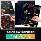 Rainbow Scratch Art Paper