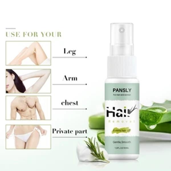 100% Natural Permanent Hair Removal Spray