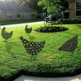 Artistic garden chicken coop