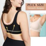 Seamless Plus Size Elastic Comfort Lace Vest Bra (From M to 7XL)