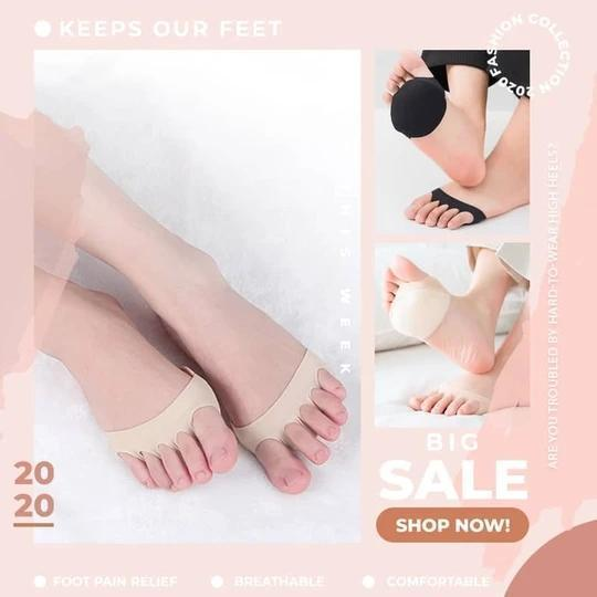 Honeycomb Fabric Forefoot Pads (2 Pairs)