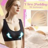 Seamless 3D Padded Front Buckle Support Bra