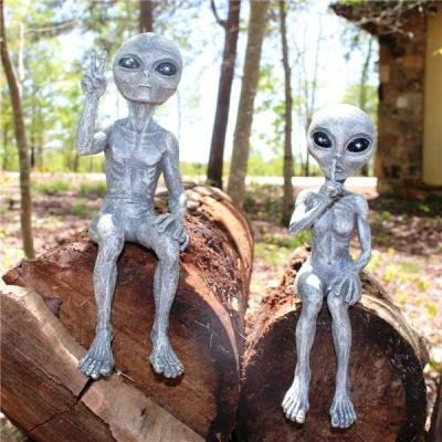 Outer Space Alien Garden Statue