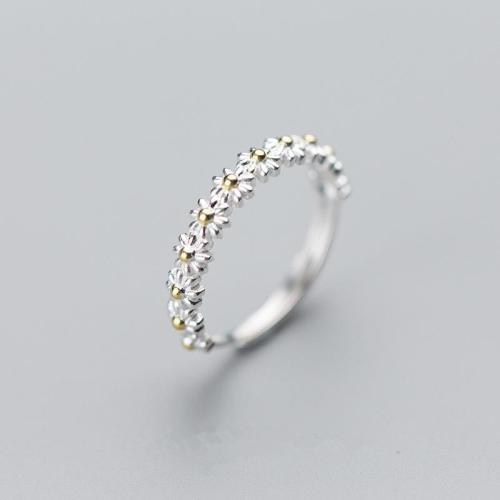 Minimalist Daisy Ring - Adjustable Ring Gifts For Her