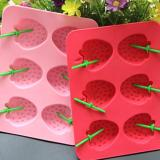 3D Strawberry Silicone Ice Tray Mold