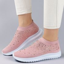 Women's Crystal Breathable Orthopedic Slip On Walking Shoes