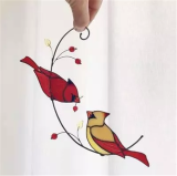 Mothers Day Gift🎁Birds Stained Glass Window Hangings