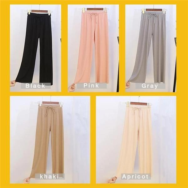 Women's Ice Silk Wide Leg Pants