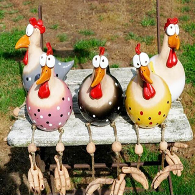 Handmade Chicken Art Resin Garden Decoration