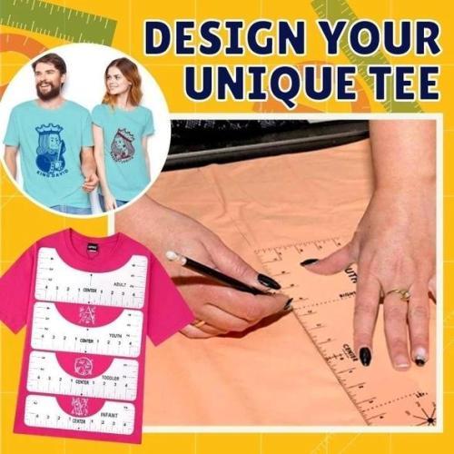 T-Shirt Transparent Ruler Guide Set