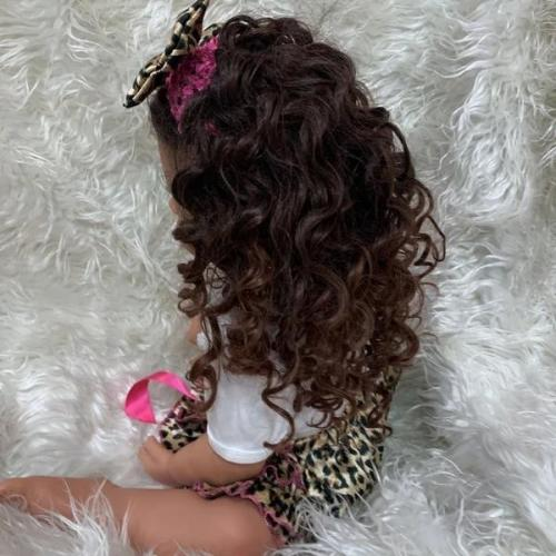 Lovely Curls Toddlers 22 Inch Lifelike Silicone Full Body Doll