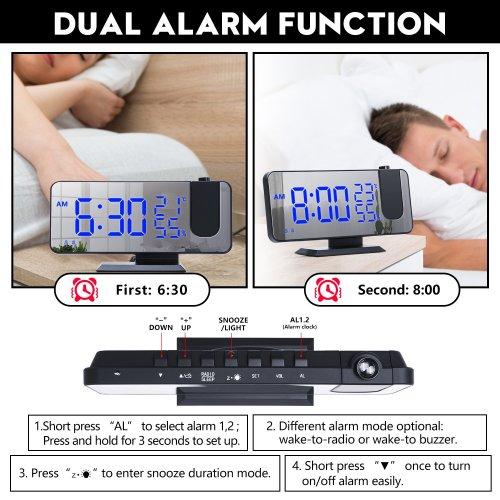 2021 NEW🔥Projection Alarm Clock🔥