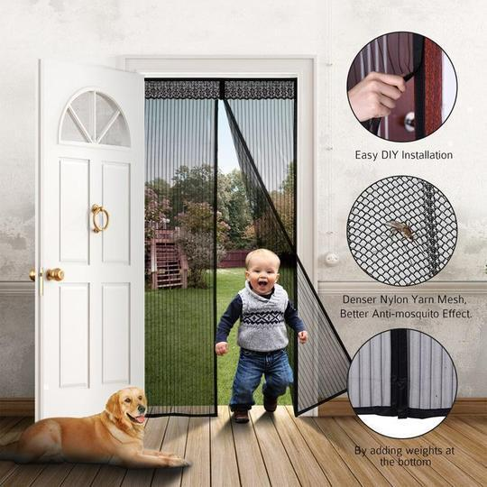Anti-mosquito Magnetic Screen Door With Full Frame Velcro