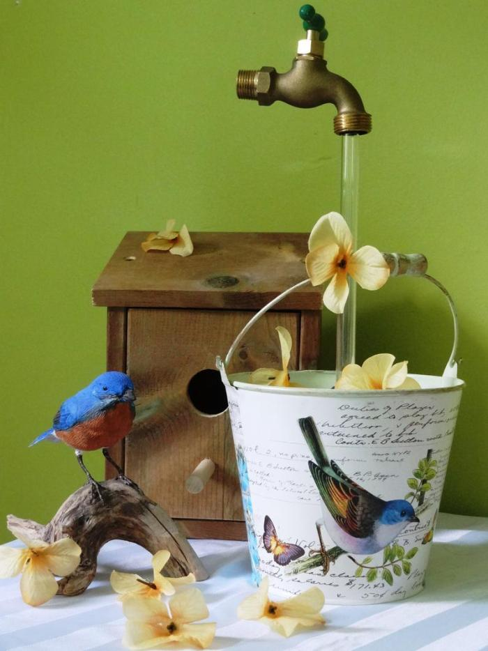 Invisible Flowing Spout Watering Can Fountain - Yard Art Decor