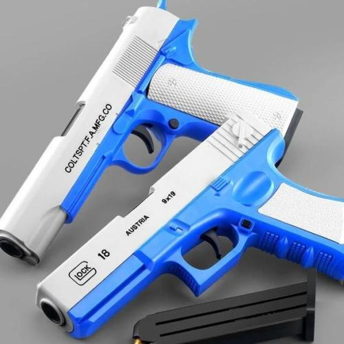 Glock & M1911 Shell Ejection Soft Bullet Toy Gun