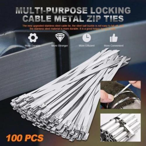 Stainless steel cable tie (100 PCS)