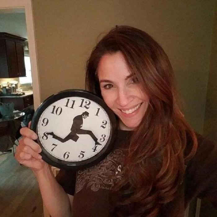 Monty Python inspired Silly Walk Wall Clock