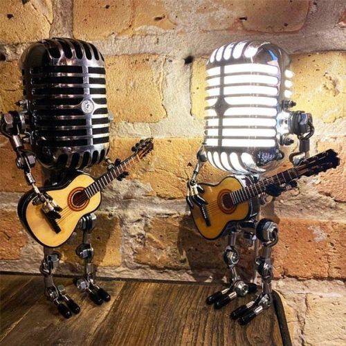 Microphone Robot Touch Dimmer Lamp