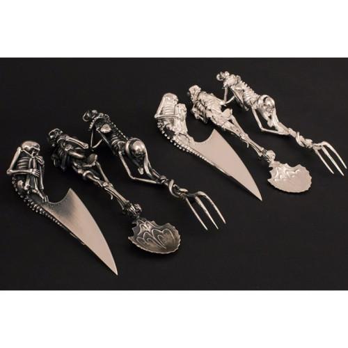 Hot Sale🔥Halloween Gift Skeletal Cutlery Sets
