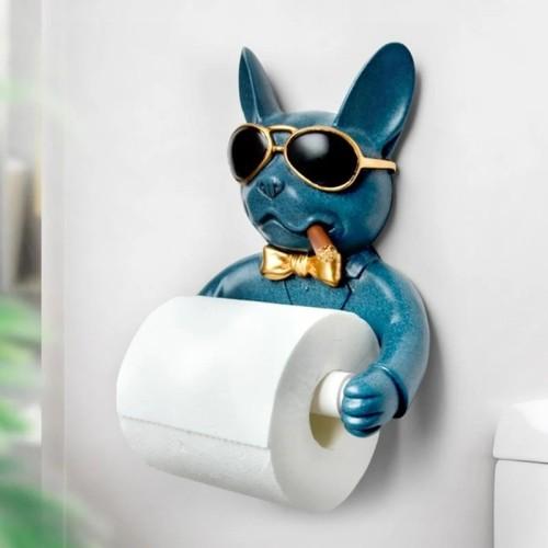 French Bulldog Paper Towel Holder