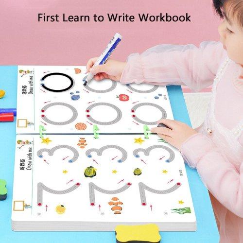 😍Magical Tracing Workbook 🔥Free Reusable Pen and Eraser🔥