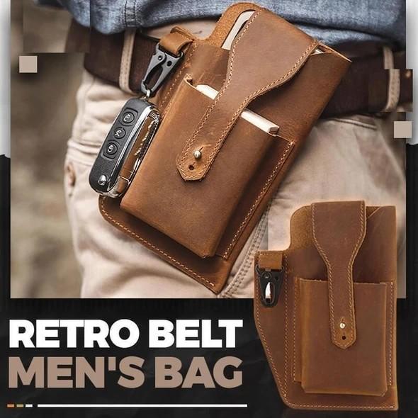 Retro Belt Waist Men's Bag
