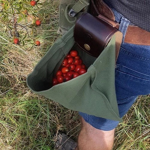 Leather and Canvas Bushcraft Bag