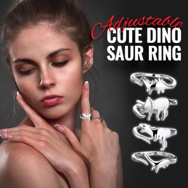 Adjustable Cute Dinosaur Ring