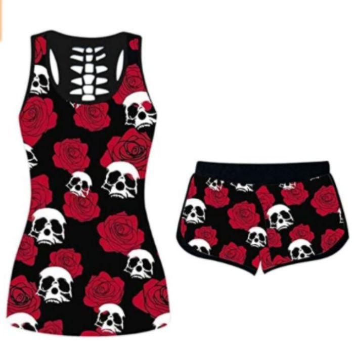 Skull -Halloween Short Sleeve Shirts