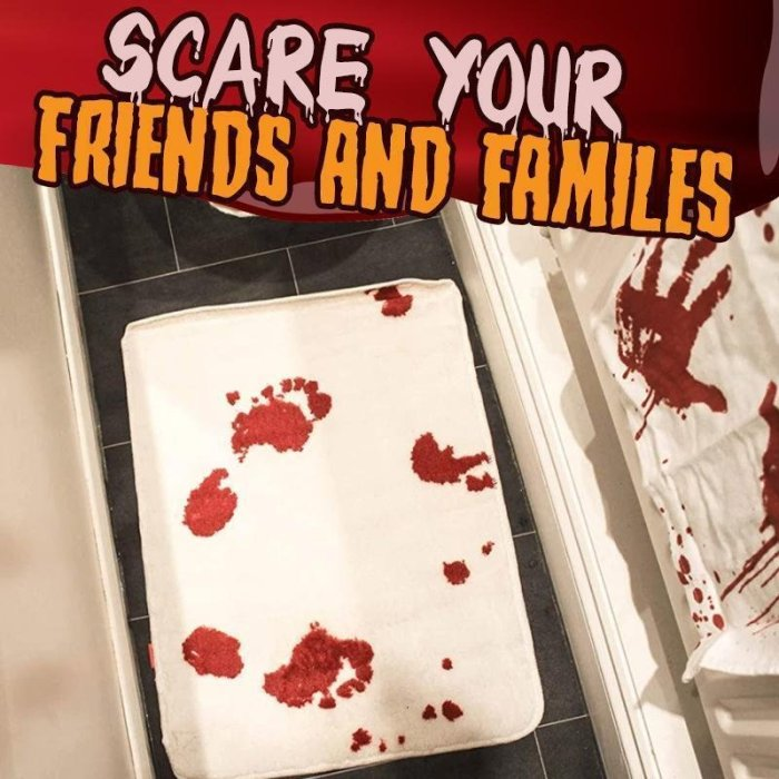 Halloween Bloody Color Changing Bath Mat