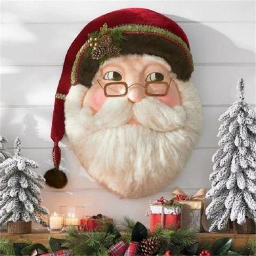 Wooden Santa Claus Wreath