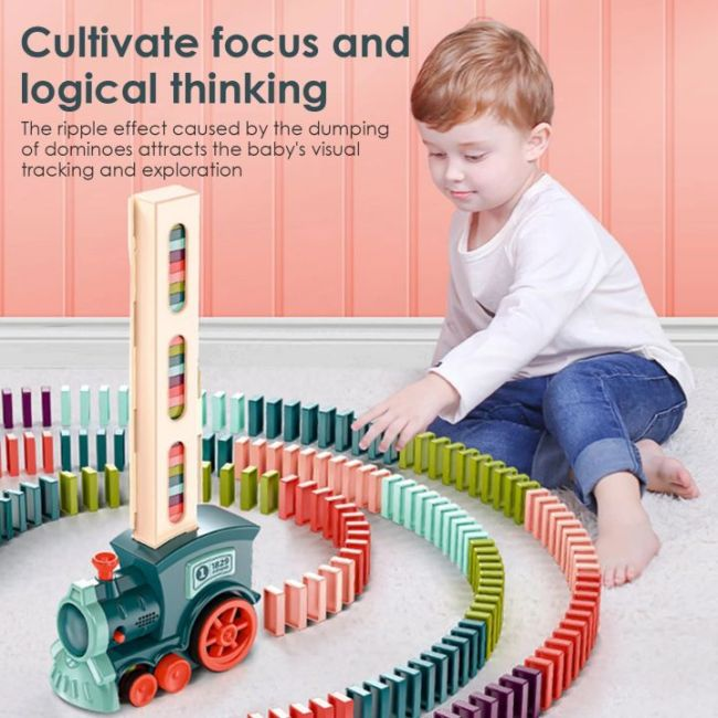 Domino Train Blocks Set Building And Stacking Toy