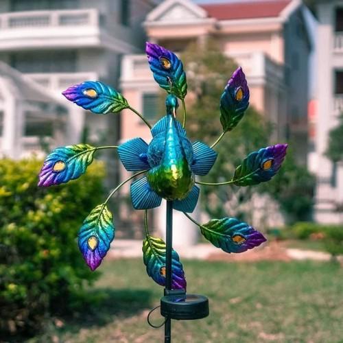 🔥🔥🔥Peacock Metal Solar Wind Spinner🏡for Patio, Lawn & Garden Decor