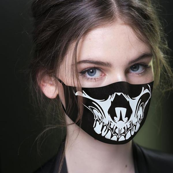 Halloween Style Printed Cloth Mask Accessories