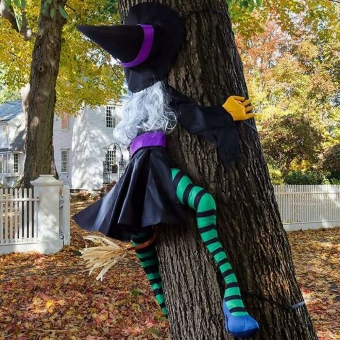 (🎃Early Halloween Sale🎃- 50% OFF) 😲Large Crashing Witch Halloween Decorations🧙♀