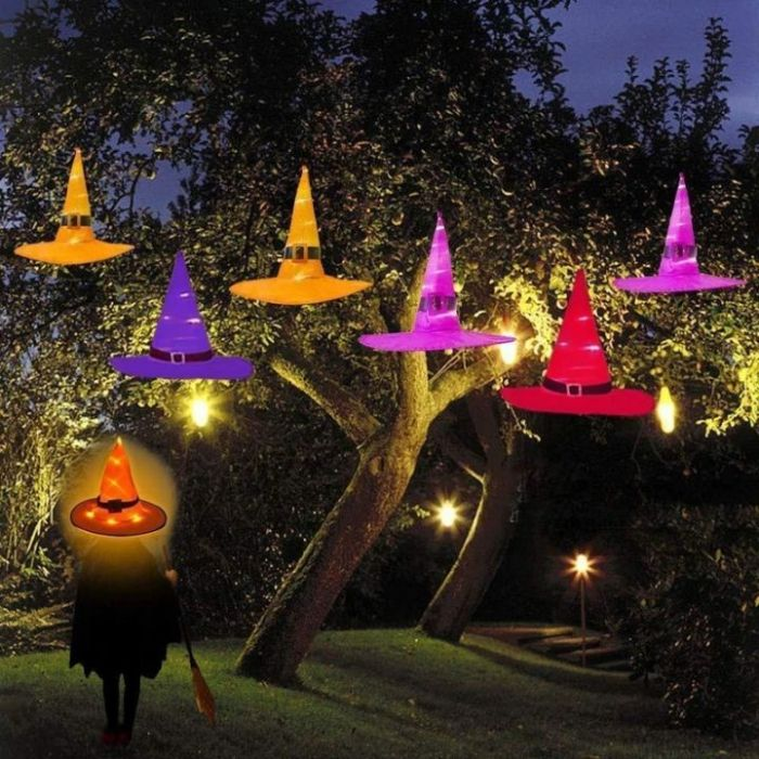 Glowing Witch Hat Hanging/Wearable