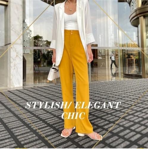 Woman's Casual Full-Length Loose Pants